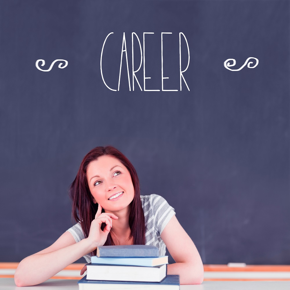 The word career against student thinking in classroom